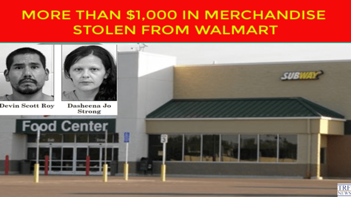 Two charged after more than $1,000 in merchandise stolen From Walmart