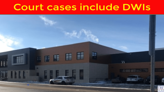 Court cases include DWIs