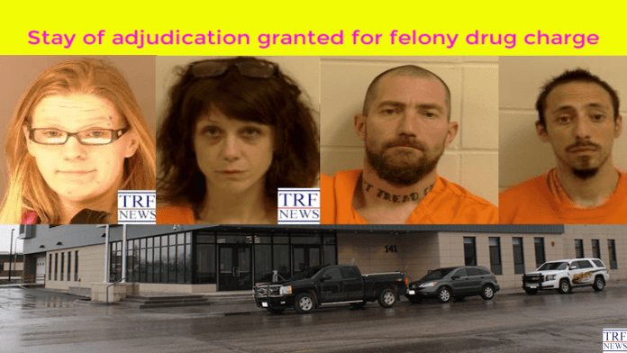 Stay of adjudication granted for felony drug charge