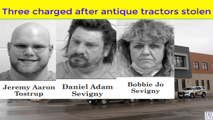 Three charged after antique tractors stolen