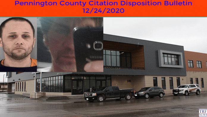 Pennington County Citation Disposition Bulletin 12/24/2020