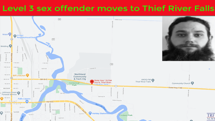 Level 3 sex offender moves to Thief River Falls